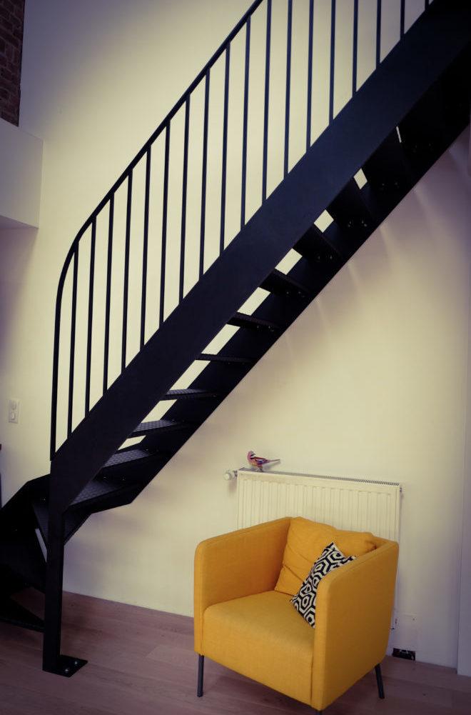 Escalier métal noir - Solifactory