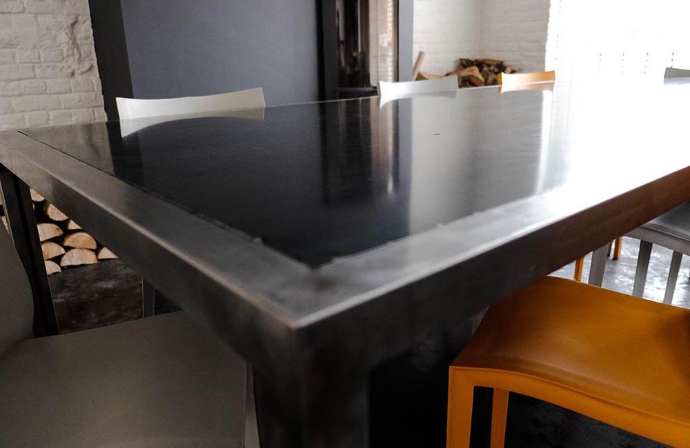 Table acier brossé- solifactory