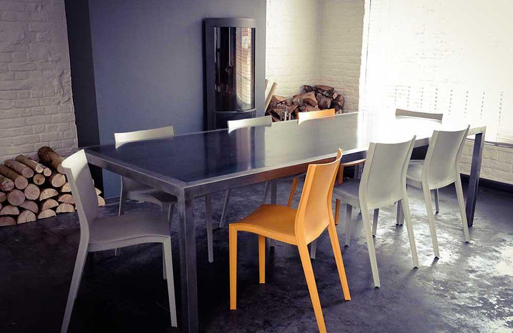 Table acier brossé - solifactory