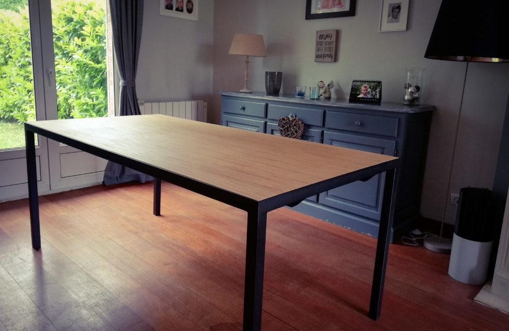 Table salle à manger métal bois - Solifactory